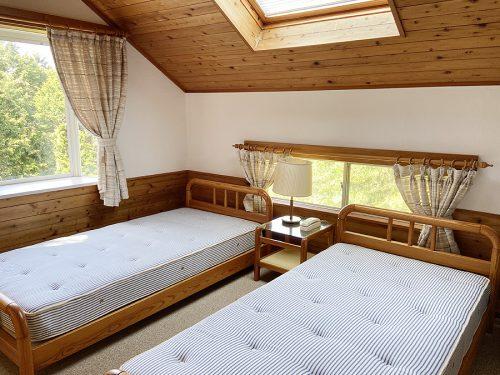 星空を眺めながら眠れる寝室(寝室)
